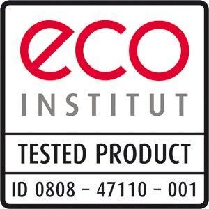 Produkt geprüft beim eco-Institut in Köln