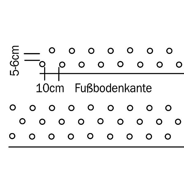 Bohrlöcher setzen - Wandschema