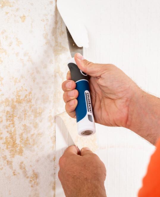 Tapete entfernen an Wände und Decke